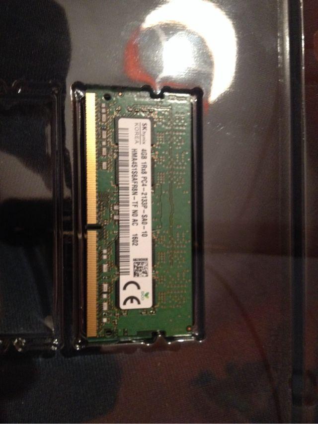Memoria RAM Portátil 4Gb NUEVA DDR4 2133