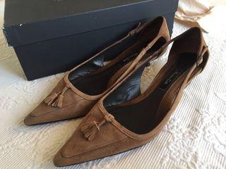 Zapatos ante marron massimo dutti