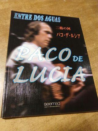 Paco de Lucía entre dos aguas libro con partituras