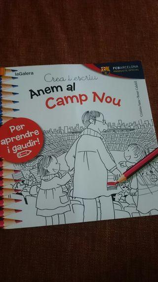 Cuento para pintar anemia al camp nou nuevo