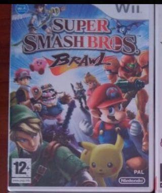 Super smahs bros brawl Wii