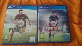 Fifa 16 y Fifa 15 PS4