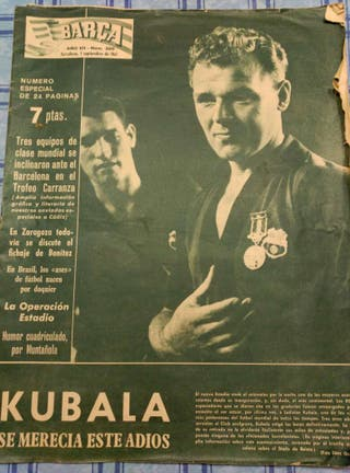 Diario-Revista deportiva antigua 1961