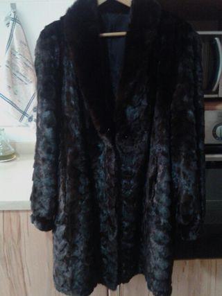 Abrigo piel autentica