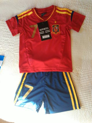 Equipación selección española de futbol mundial