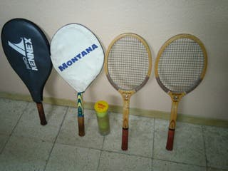 4 Raquetas de Tennis i 4 pelotas
