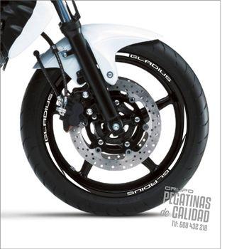 Vinilos Tiras Llanta Moto Suzuki Gladius Mod 2