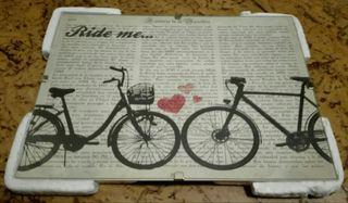 Cuadro bicicleta con cristal