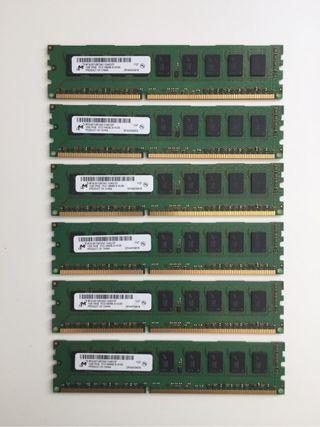 Memorias 1 Gb DDR3 Micron para Mac