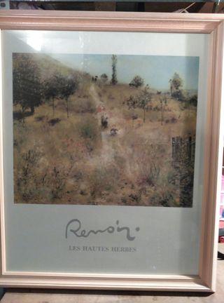 lamina encuadrada de una pintura de renoir