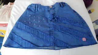Falda de niña talla 10 Carbone.