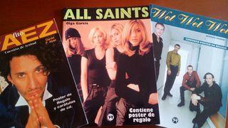 Libros Musica pop ( All Saints / Wet Wet Wet / Fito Paez )