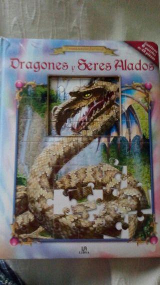 Libro Puzzle ( Dragones y Seres Alados )