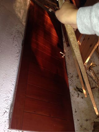 Vendo puerta de madera de teca