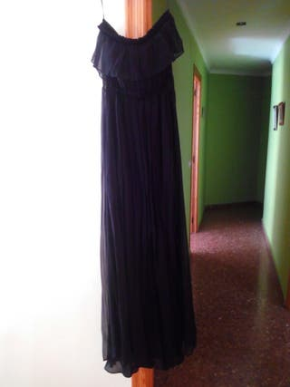 Vestido Mango, negro, largo