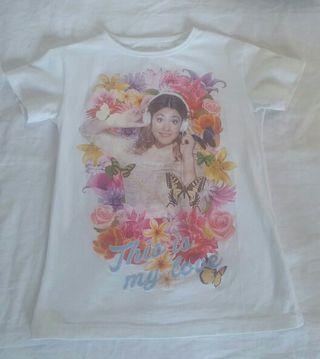 Camiseta Violetta Niñas Talla 6-8