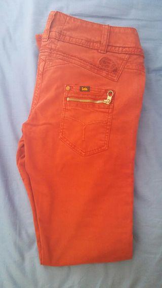 Pantalones Lois rojos talla 38