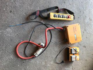 Mando grúa con receptor y cargador de baterias
