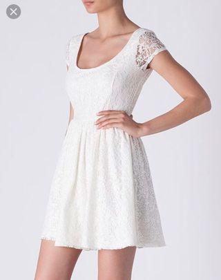 Suiteblanco vestido encaje Lady blanco roto nuevo de segunda
