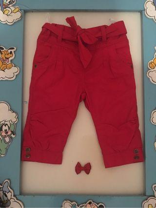 Pantalón pinzas bebe niña 6 a 9 meses