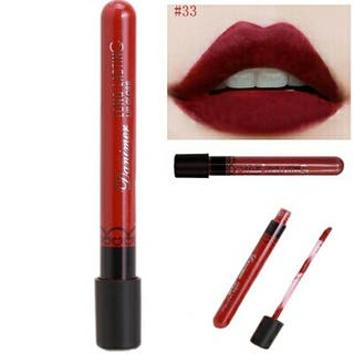 2 Lip Gloss Waterproof mate larga duración