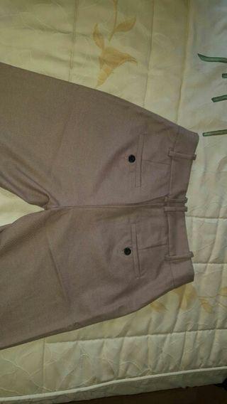 Pantalón marrón de vestir Zara