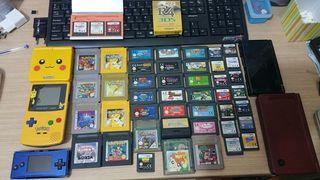 Lote de consolas y juegos nintendo game boy micro