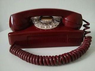 Teléfono americano años 50 funcionando.