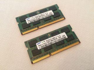 Módulos RAM 2Rx8 PC3-8500s