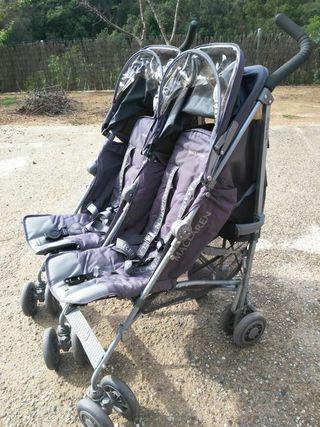 Carro de bebe gemelar maclaren