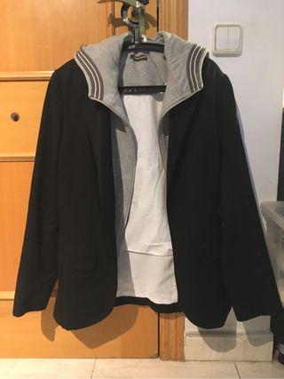 Chaqueta parka con capucha Zara - negra, talla L