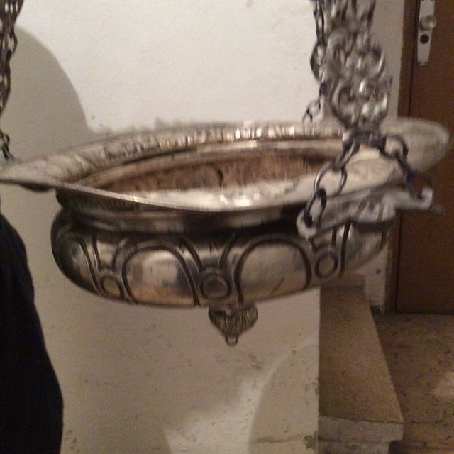 L mpara antigua de techo labrada en plata de segunda mano - Lamparas granada ...