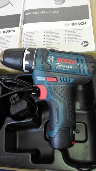 Taladro atornillador nuevo Bosch 10,8v