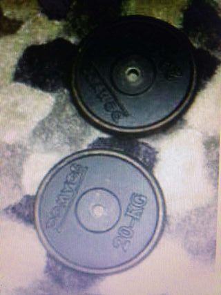 Jgo. de pesas - 2 Discos 20kg Domyos