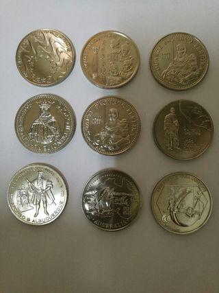 9 monedas de 200 escudos