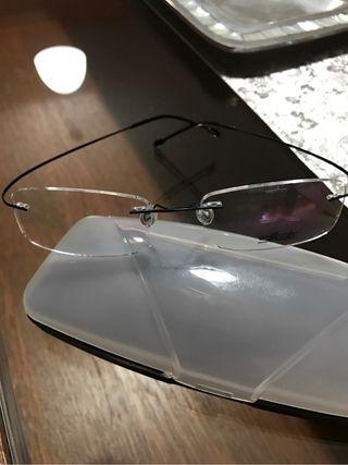 montura gafas silhouete patillas negras