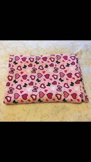 Manta rosa de cama de 90 o sofá. NUEVA. Preciosa!!