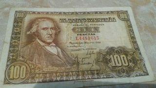 Billete antiguo de 100pts. colección