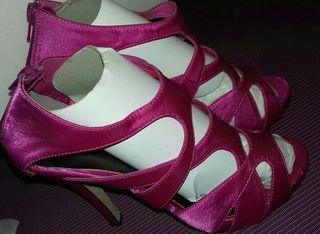 Zapatos fiesta boda raso