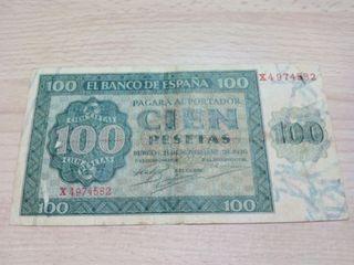100 pesetas 1936
