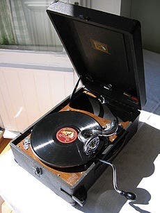 Discos antiguos de gramófono (pizarra)