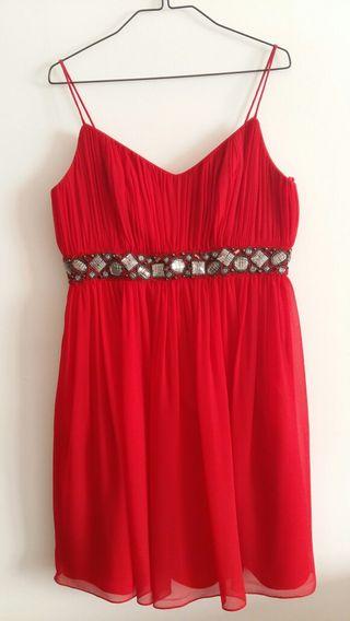 Vestido de cocktail rojo