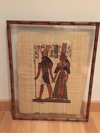 Cuadro papiro egipcio original .