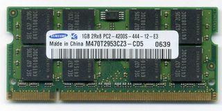 Memoria RAM DDR2-533 Samsung 1 Gb (2 Ud.)