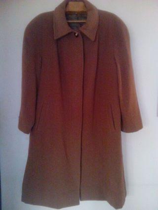 Abrigo largo de paño alta calidad