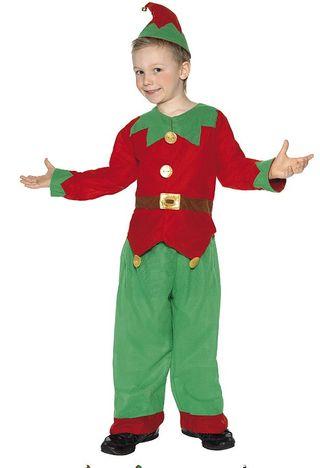 Disfraz de elfo o duende infantil, talla S (3 - 5 años)