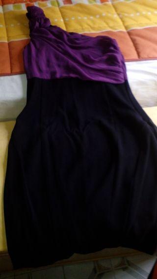Vestido lila y negro
