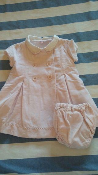 Vestido piel de melocotón rosa Gocco 12 meses