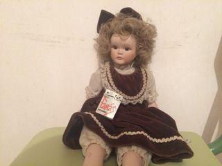 Muñeca de porcelana -años 40-coleccionismo