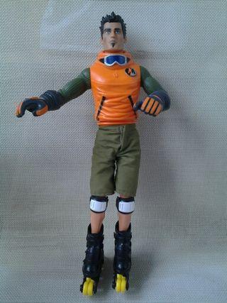 Muñeco Action Man Patinador (Hasbro 2002)